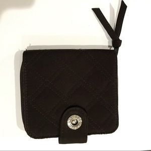 Vera Bradley Brown Quilted Small Wallet